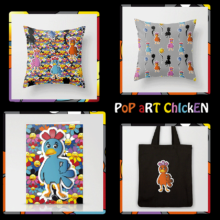 POP ART CHICKENS